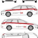 Fahrzeugbeschriftung Gestaltung